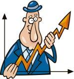 wykresu mężczyzna Zdjęcie Stock