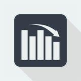 Wykresu płaski projekt matematyka projekt Zdjęcia Stock