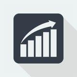 Wykresu płaski projekt matematyka projekt Obrazy Stock