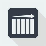 Wykresu płaski projekt matematyka projekt Obraz Stock