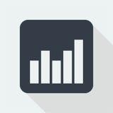 Wykresu płaski projekt matematyka projekt Zdjęcie Stock