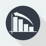 wykresu płaski projekt, matematyka projekt, dane projekt Fotografia Stock