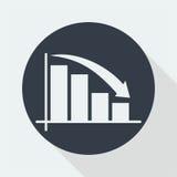 wykresu płaski projekt, matematyka projekt, dane projekt Obrazy Stock