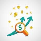 Wykresu pieniądze dolara wektor Fotografia Stock
