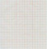 wykresu połówki papieru czerwień przejrzysta Obraz Stock