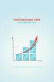Wykresu postęp Fotografia Stock