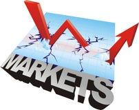 wykresu rynku zapas Obrazy Stock