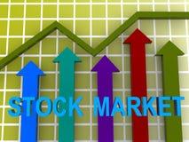 wykresu rynku zapas zdjęcie royalty free