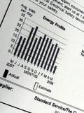 wykresu użycia energii Fotografia Stock
