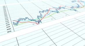 wykresu wędkujący spreadsheet Obraz Stock