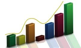wykresu zapas Obraz Stock