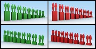 wykresów ludzie Zdjęcie Stock