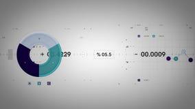 Wykresy i dane Tropi Chłodno Lite ilustracji
