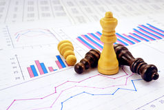 Wykresy i szachy Zdjęcie Stock