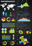 wykresy infographic Obraz Stock