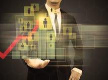 Wykresy na rękach biznesmeni Fotografia Stock