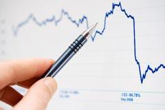 wykresy wprowadzać na rynek monitorowanie zapas Zdjęcie Stock