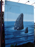Wyland Whale mural Royalty Free Stock Images