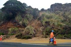 Wylew i Mudflow w Nowa Zelandia Obraz Stock