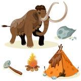Wymarli gatunki ewolucja _ royalty ilustracja