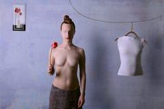 wymarzona dziwaczna kobieta Obrazy Royalty Free