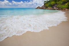 Wymarzona plaża - Anse Georgette obraz stock