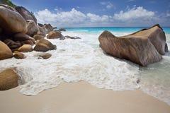 Wymarzona plaża - Anse Georgette zdjęcia royalty free