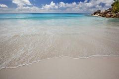 Wymarzona plaża - Anse Georgette zdjęcie stock