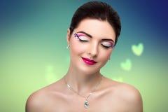Wymarzona Uśmiechnięta Piękna kobieta Zdjęcie Royalty Free