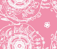 Wymarzonej kochającej dziewczyny wiosny wektoru wzoru bezszwowa ilustracja Obrazy Stock