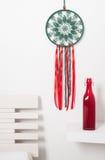 Wymarzony łapacz z zielonymi czerwonymi koronkami Zdjęcia Royalty Free