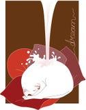 wymarzony mleko royalty ilustracja