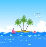 Wymarzony seawater tło ilustracja wektor