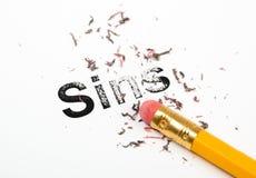 Wymazywać grzechy Fotografia Stock