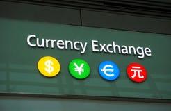 Wymiany walut biuro obraz royalty free