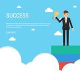 3 wymiarowe jaja Biznesmen trzyma filiżankę Przywódctwo pojęcie Ma Obraz Royalty Free