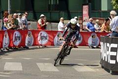 Wymiarowi dane Zespalają się konkurenta przy Giro 2017, Mediolan Zdjęcia Royalty Free