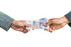 Wymieniać brytyjskiego pieniędzy funtów szterlinga Obraz Royalty Free