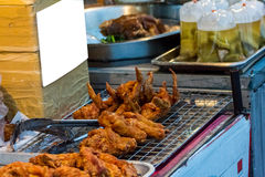 wyśmienicie gorący kurczak smażący Obrazy Stock