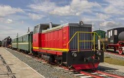 Wymiernik dieslowska lokomotywa TU7A-2895 Muzeum Zdjęcia Royalty Free