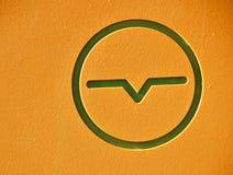 wymiernika elektryczny symbol obrazy royalty free