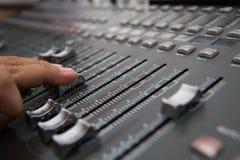 wymieszać dźwięk biurko Zdjęcia Stock