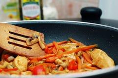 wymieszać tajski frytki żywności obrazy royalty free