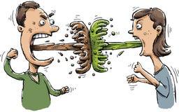 Wymiociny bitwa ilustracja wektor