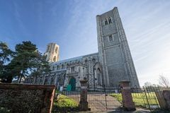 Wymondham abbey. Magnificent ancient Norman architecture church. royalty free stock photos