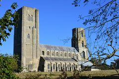 Wymondham Abbey, Norfolk, England. Wymondham Abbey, Norfolk, UK. The Abbey serves as the parish church of Wymondham, but it started life as a Benedictine priory royalty free stock images