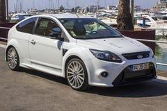 Wymuskany Ford Focus RS samochód na Quay w Vilamoura Portugalia zdjęcia royalty free