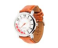 Wymuskany rzemienny zegarek Zdjęcia Stock