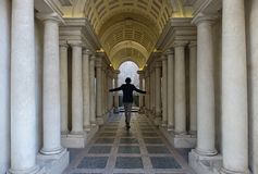 Wymuszona perspektywa Borromini w Rzym Obrazy Royalty Free