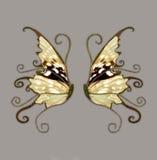 wymyślnych skrzydła royalty ilustracja